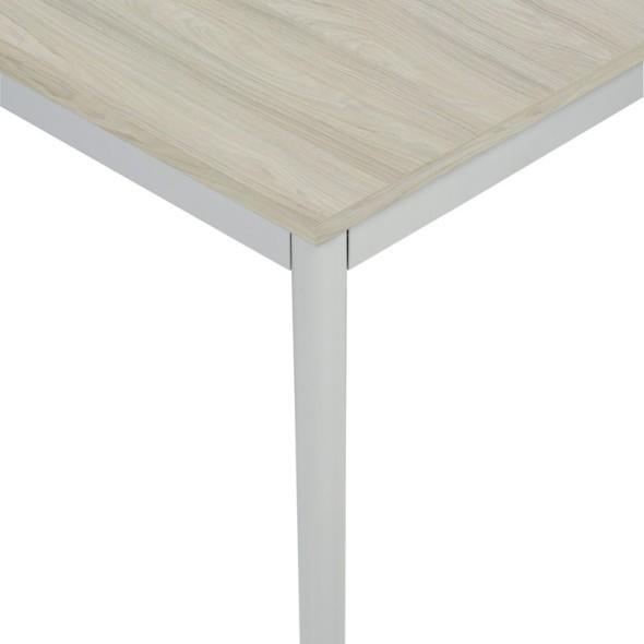 Stůl do jídelny, světlešedá konstrukce, 1200 x 800 mm, dub