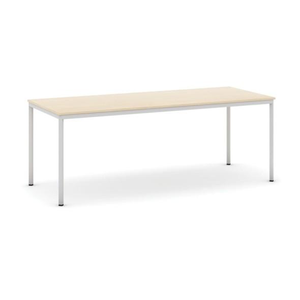 Stůl jídelní, 2000 x 800 mm deska dub, podnož sv. šedá