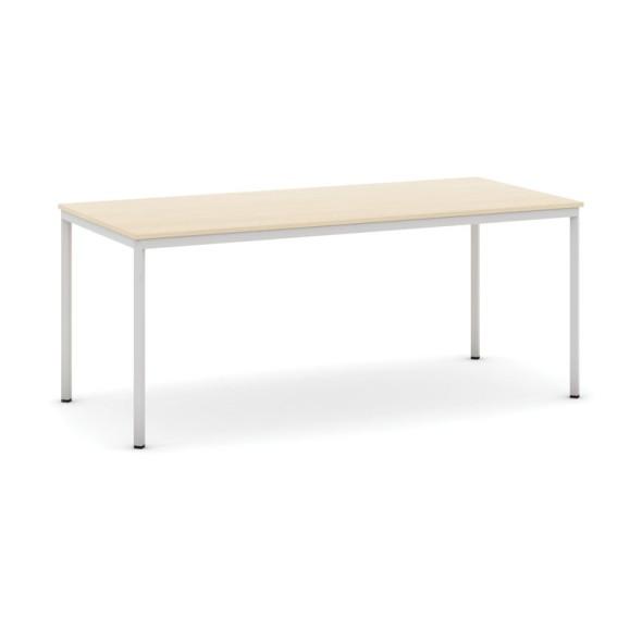Stůl jídelní, 1800 x 800 mm deska dub, podnož sv. šedá