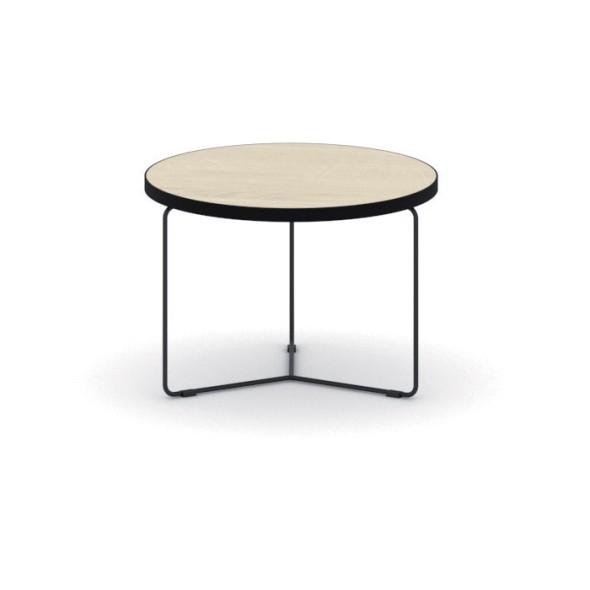 Kulatý konferenční stůl TENDER, výška 480 mm, průměr 500 mm, dub přírodní