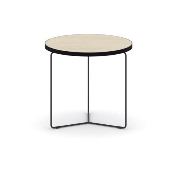 Kulatý konferenční stůl TENDER, výška 380 mm, průměr 500 mm, dub přírodní
