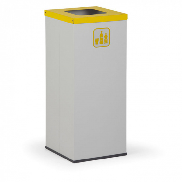 Koš na tříděný odpad 50 L, bez vnitřní nádoby, šedý/žlutý
