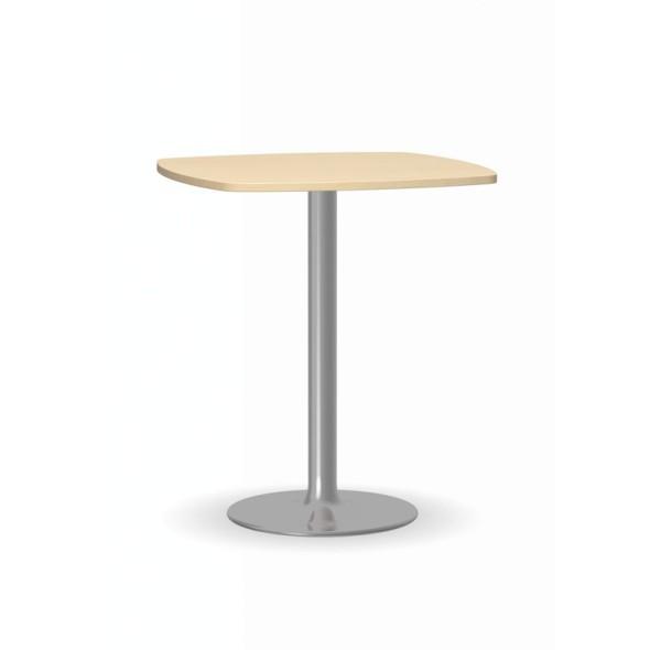 Konferenční stolek FILIP II, 660x660 mm, chromovaná podnož, deska bříza