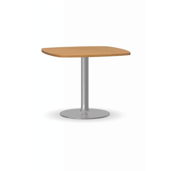 Konferenční stolek ZEUS II, 660x660 mm, chromovaná podnož, deska buk