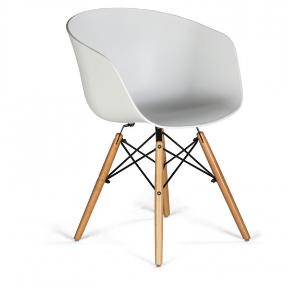 Jídelní židle NORDY X, bílá, 4 ks