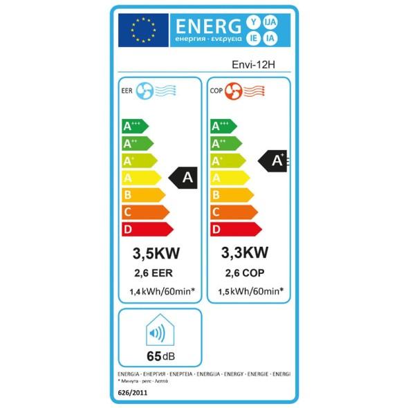 Klimatizace G21 Envi 12H s vytápěním,do 40 m2,WiFi7