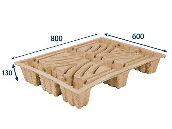 Paleta nasávaná kartonáž – 800 x 600 x 130 mm, nosnost 250 kg