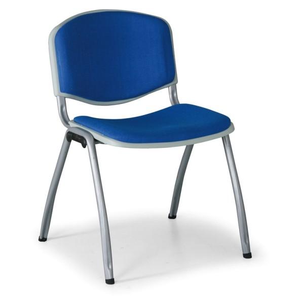 Konferenční židle VORNO 3+1 ZDARMA, koženka,  modrá