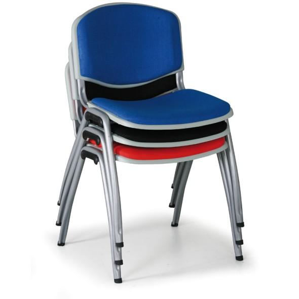 Konferenční židle VORNO 3+1 ZDARMA, koženka, černá