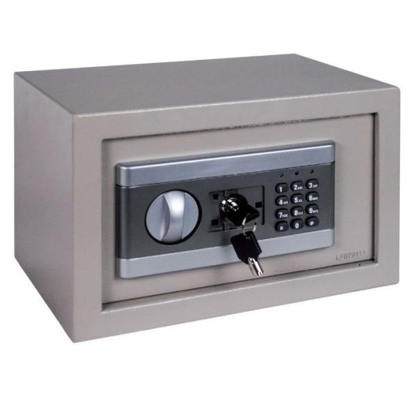Nábytkový trezor, elektrický, 200x310x200 mm, béžová