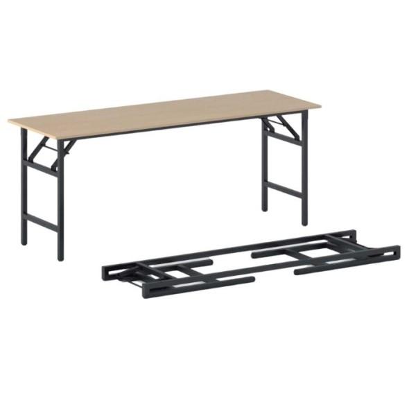 Konferenční stůl FAST READY s černou podnoží 1700 x 500 x 750 mm, buk