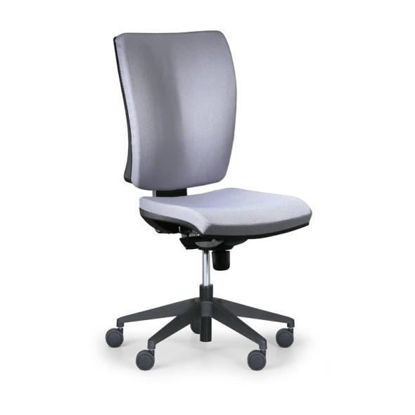 Kancelářská židle LEON PLUS, šedá, bez područek