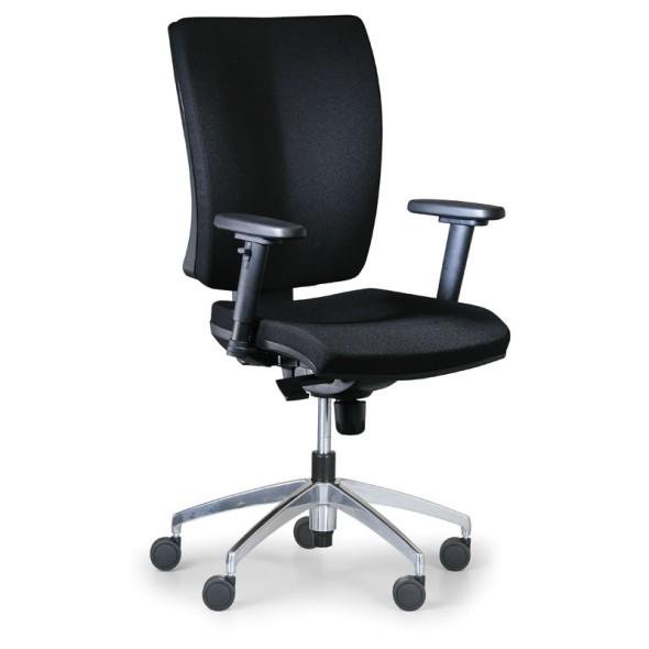 Kancelářská židle LEON PLUS, černá, ocelový kříž