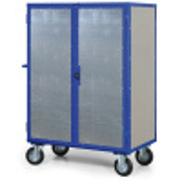 Skříňový vozík s plechovými stěnami, 5 polic