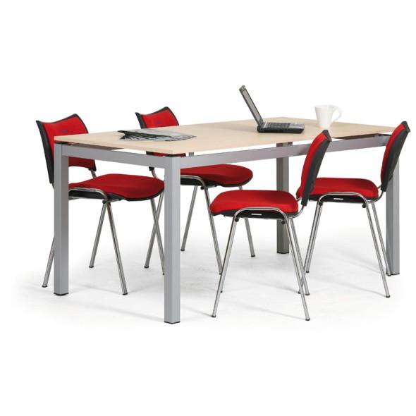 Jednací stůl AIR, deska 1600 x 800 mm, šedá