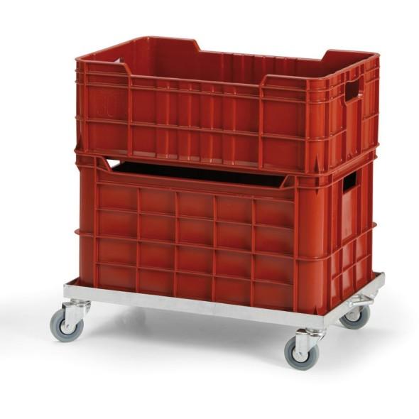 Pozinkovaný vozík pro přepravky 600x400 mm