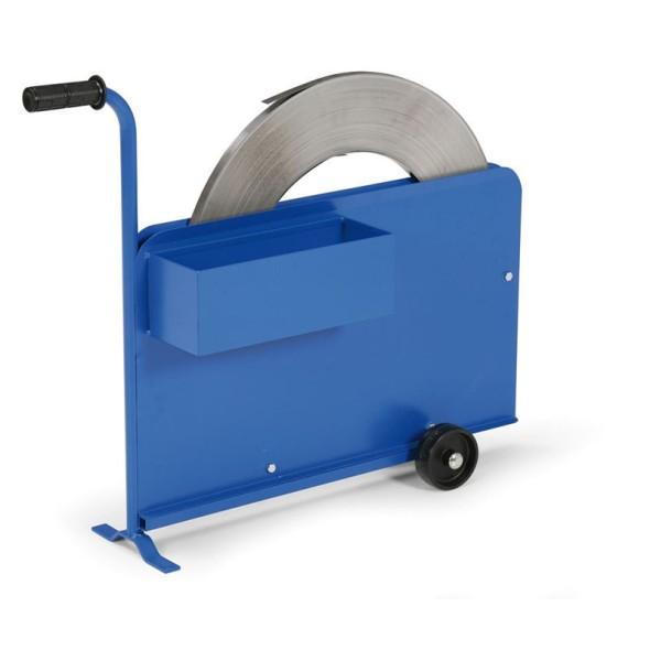 Odvíječ ocelové pásky s krytem pásky