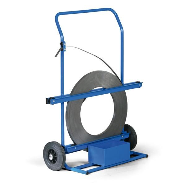 Vozík a odvíječ ocelové pásky