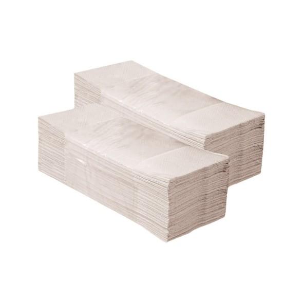 Skládané papírové ručníky, jednovrstvé, šedé