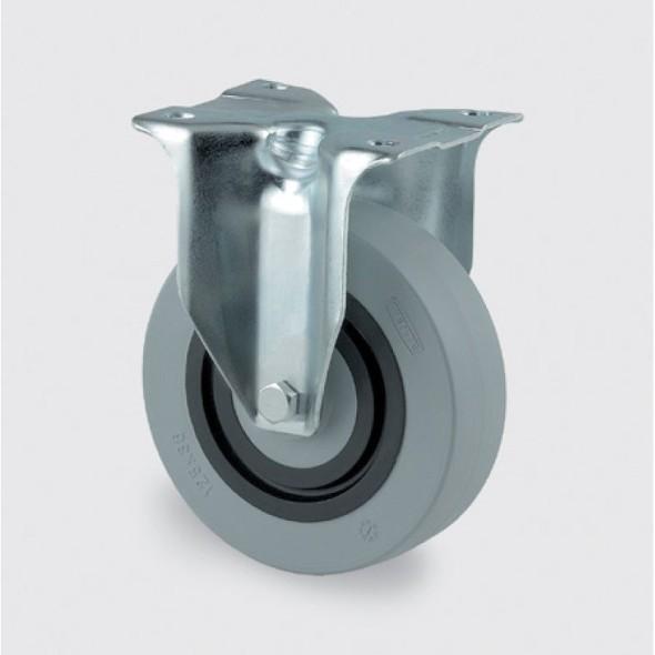 Přístrojové kolo se sníženou hlučností, pryžové, 125 mm