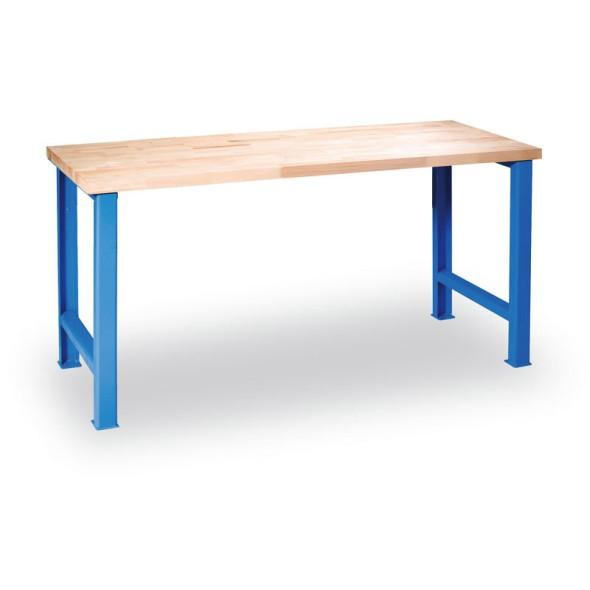 Dílenský stůl GÜDE s pevným podnožím, 1200 x 685 x 840 mm, modrá
