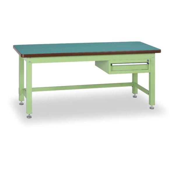 Dílenský stůl GL s jednozásuvkovým kontejnerem, 1500 mm, 1x zásuvka
