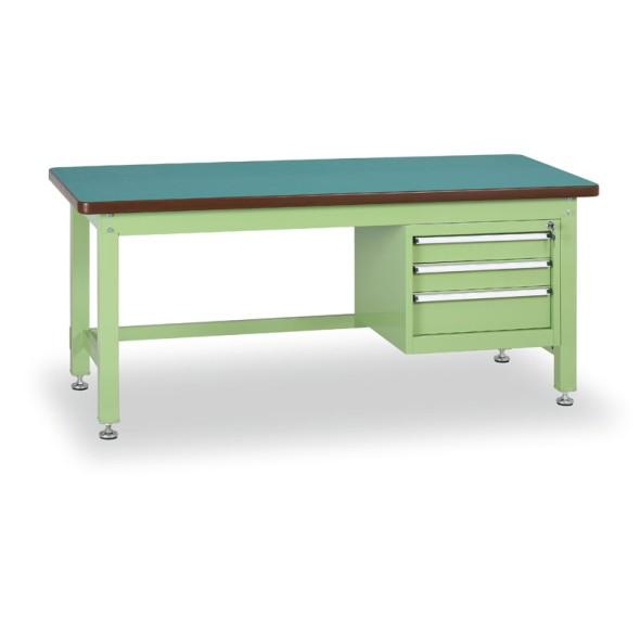 Dílenský stůl GL s trojzásuvkovým kontejnerem, 1500 mm, 3x zásuvka