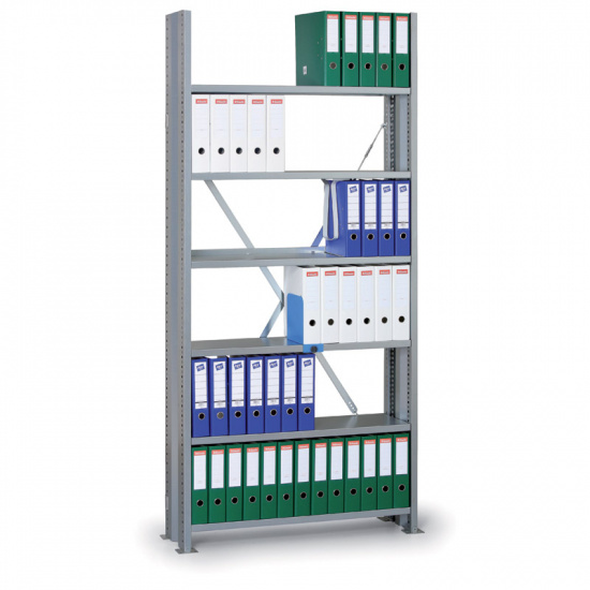Archivační regál s bočními stěnami Variant, 2190 x 1000 x 300, základní