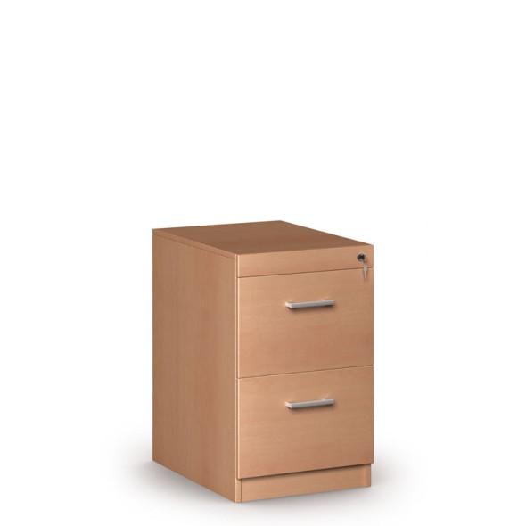 Dřevěná zásuvková kartotéka, 2 zásuvky, buk