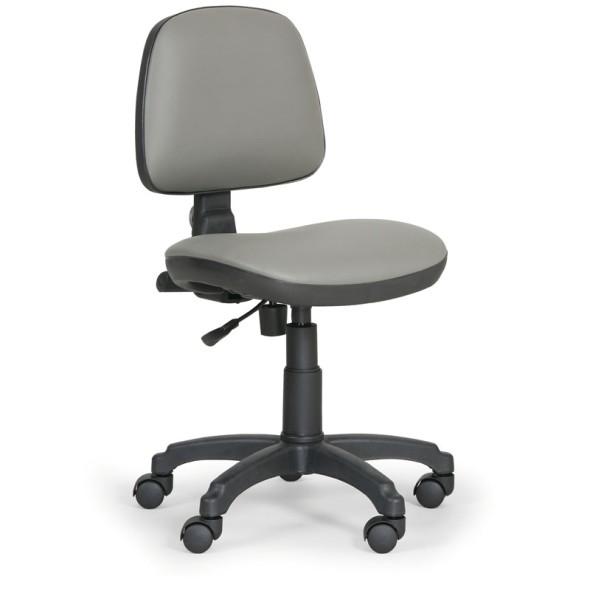 Pracovní židle MILANO bez područek, permanentní kontakt, šedá