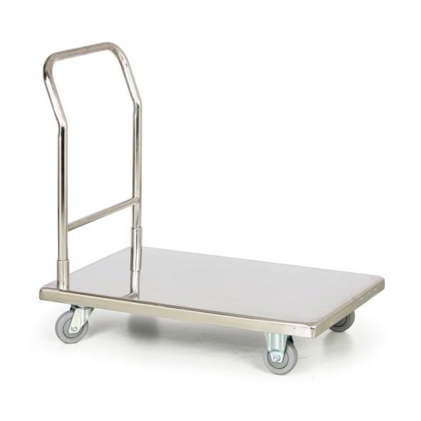 Nerezový plošinový vozík, 300 kg, 900x550 mm