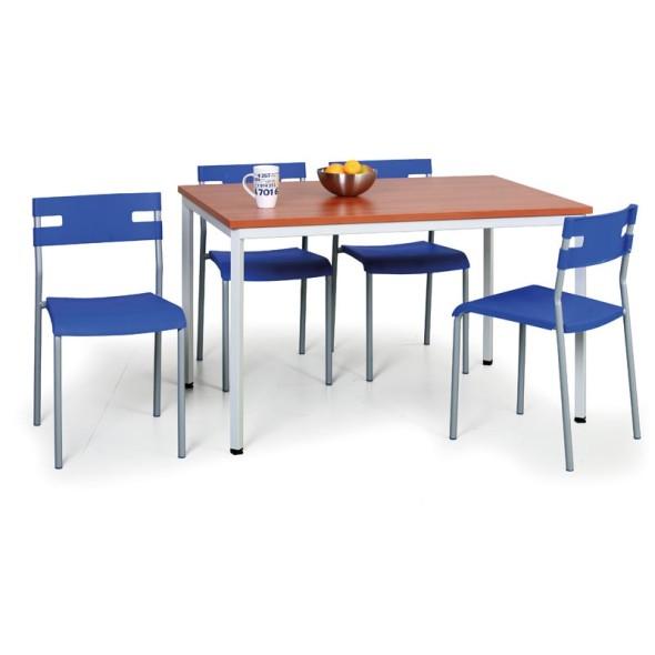 Stůl do jídelny, tmavěšedá konstrukce, 800 x 800 mm, buk
