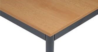 Stůl do jídelny, tmavěšedá konstrukce, 1600 x 800 mm, buk