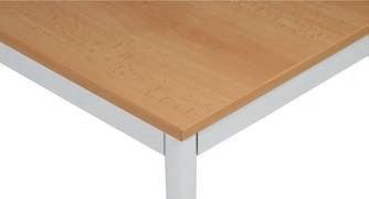 Stůl do jídelny, světlešedá konstrukce, 1600 x 800 mm, buk