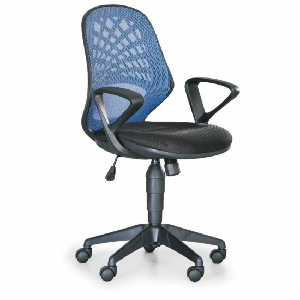 Kancelářská židle FLER, Akce 1+1 ZDARMA, modrá