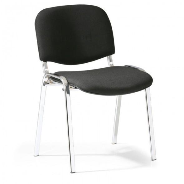 Konferenční židle VIVA chrom 3+1 ZDARMA, černá