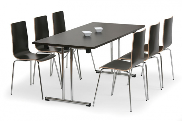 Skládací konferenční stůl FOLD, 1600 x 800 mm, dezén wenge