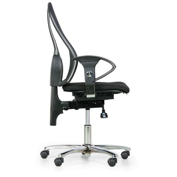 Zdravotní balanční kancelářská židle EXETER NET, černá