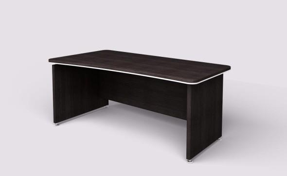 Rohový psací stůl WELS, levý, dezén wenge