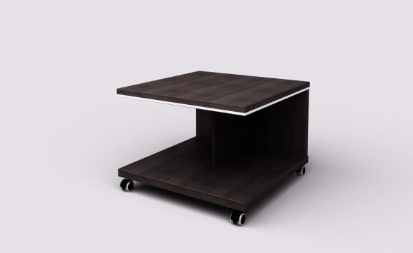 Konferenční stolek WELS - mobilní, 700 x 700 x 500 mm, wenge