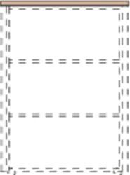 Horní obkladová deska WELS, 878 x 429 x 38 mm, wenge