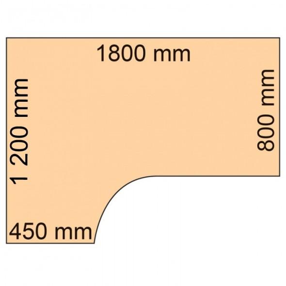 Rohový psací stůl CLASSIC C, levý, dezén buk