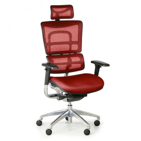 Multifunkční kancelářská židle WINSTON SAB, červená