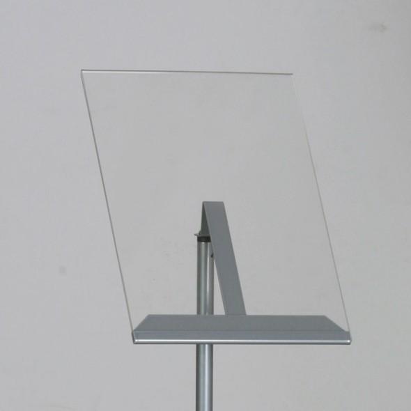 Prezentační stojan A4, šedostříbrný
