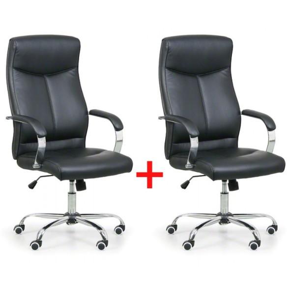 Krzesło biurowe Lugo 1+1 GRATIS, czarny