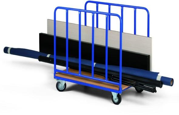 Wózek platformowy na długie elementy, 1070x800 mm, nośność 400 kg