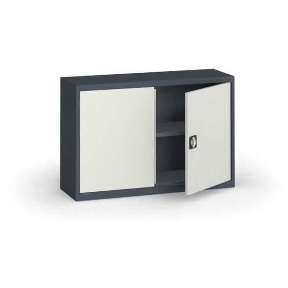 Szafa metalowa, 800 x 1200 x 400 mm, 1 półka, antracyt/szara
