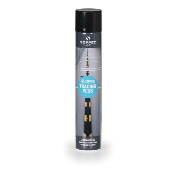 Farba w sprayu TRACING PLUS do malowania linii i pasów, 750 ml, czarna