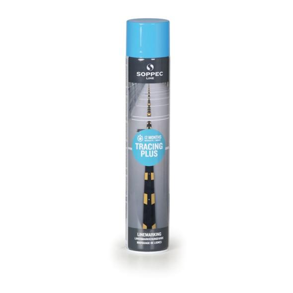 Farba w sprayu TRACING PLUS do malowania linii i pasów, 750 ml, niebieska