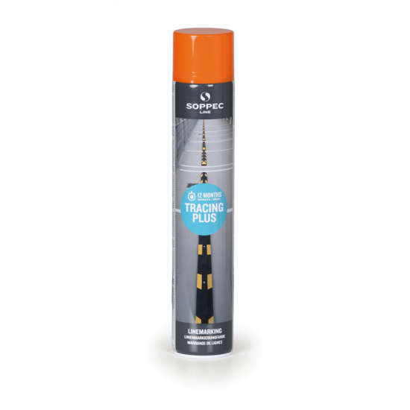 Farba w sprayu TRACING PLUS do malowania linii i pasów, 750 ml, pomarańczowa